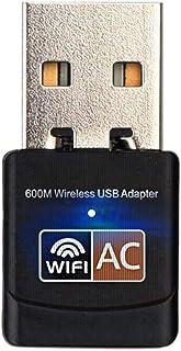 محول واي فاي USB 600Mbps بطاقة شبكة ايثرنت لاسلكي ثنائي النطاق 2.4 جيجا 5.G USB USB USB دونيل 802.11ac