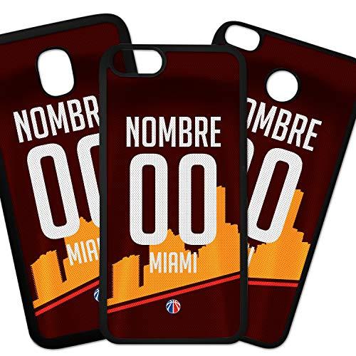 ELHURON Fundas De Moviles Carcasas De Moviles Funda Carcasa Compatible con Camiseta NBA Miami Heat con tu Nombre y tu Numero
