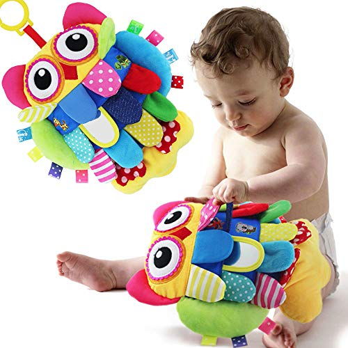GODR7OY Baby Hanging Rattles Toys, Car Seat Stroller Toys Infant with Cute Wind Chime and Squeak Toy Hanging Bell Owl Plush Animal Fit for 0-36 Month Babies Boys and Girls