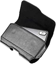 Faux Leather Horizontal Cell Phone Holster Case Pouch Holder with Belt Clip & Loops for iPhone 11, XR/LG V35 ThinQ, K40, K30, G6 / Motorola Moto G7 Play, G6, E5 Play/BLU Pure View, BLU Vivo XI