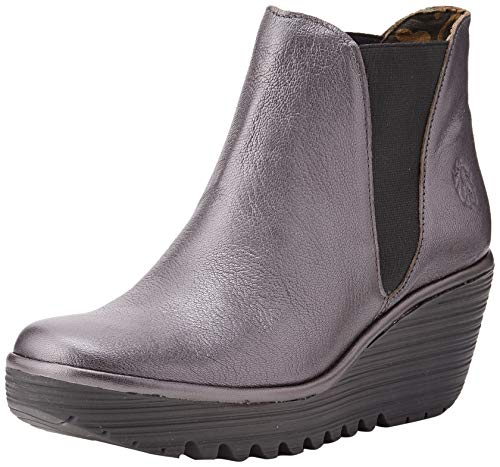 Fly London Damen Yoss Chelsea Boots, Silber (Graphite 066), 41 EU