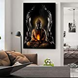 ganlanshu Pintura sin Marco Dios Buda Arte Lienzo Cuadro Moderno Buda Cuadro Lienzo Cuadro Budista póster ZGQ2861 60X90 cm