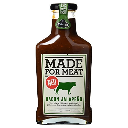 Kühne Grillsauce Made for Meat Bacon Jalapeno in der Flasche, 1er Pack