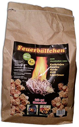 Ingbertson Ofenanzünder Kaminanzünder Feueranzünder Feuerbällchen (Brenndauer ca. 10 min) (4kg, Feuerbällchen)