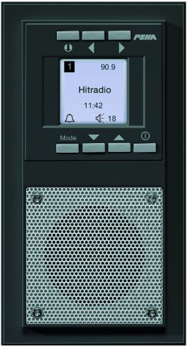 Honeywell Home Peha D 20.485.64 Radio Unterputz-Radio im Aura-Design, anthrazit