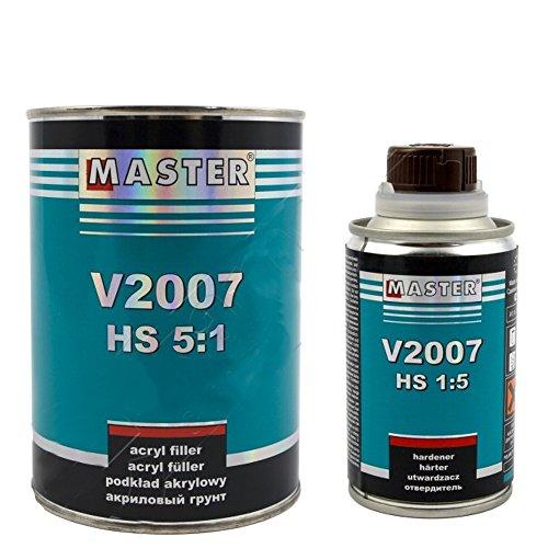 Master Troton 2K Acryl Füller Grundierung Primer HS V2007 5:1 0,8L Grau + Härter 0,2L