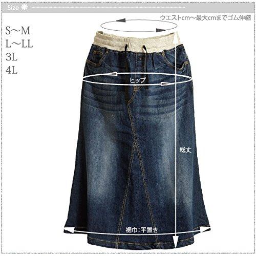 K.G.B(ケージービー)『デニムロングスカート』