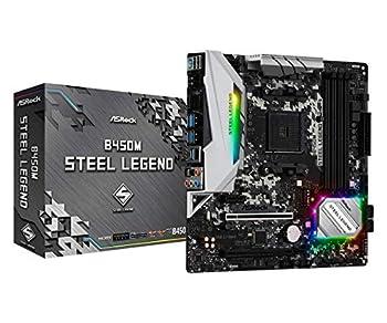 ASRock B450M STEEL LEGEND Socket AM4/ AMD Promontory B450/ DDR4/ Quad CrossFireX/ SATA3&USB3.1/ M.2/ A&GbE/ MicroATX Motherboard