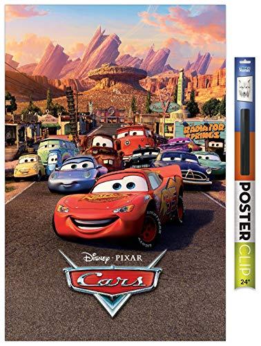Trends International Disney Pixar Cars - One Sheet Wall Poster, 22.375' x 34', Premium Poster & Clip Bundle