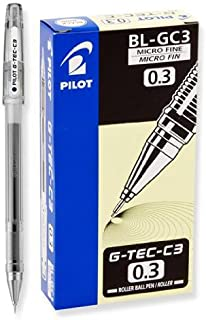 Pilot G-Tec-C Black Micro Fine 0.3mm - 12 Pack Gel Pen - PGTC3-BLK