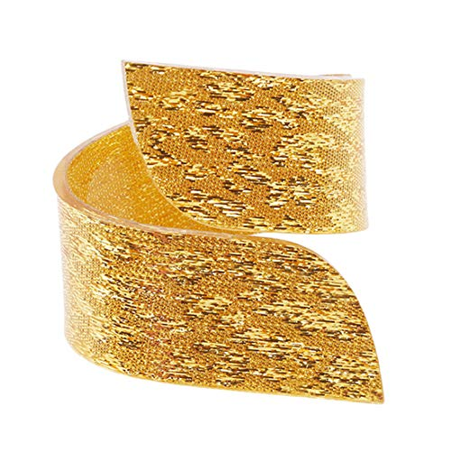 VWH Unregelmäßige Acryl Serviettenringe Für Hochzeiten Party Serviettenring Halter Desktop Dekoration (Gold)