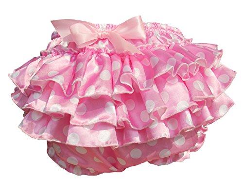 Haian ABDL PVC & Satin Ruffle Rhumba Pull on Plastic Pants (XX-Large, Pink)