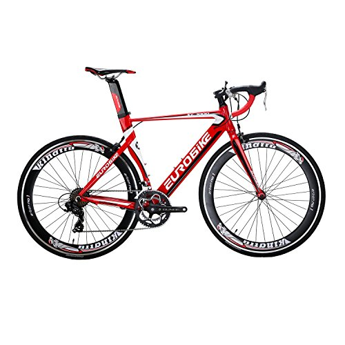 Eurobike Bicycle XC7000 700C Aluminum alloy frame Road Bikes 14 Speed Road Bicycle Red