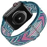 HILIMNY Solo Loop Kompatibel mit Apple Watch Strap 38mm 40mm 41mm, Geflochtenes Elastisches Stretchy...