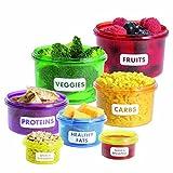 Watooma Vorratsdosen Set zur Portions-kontrolle | Abnehmen durch Portionsgrößen Perfect Portion Control - Diät Lebensmittel-Dosen | Mahlzeit Bevorratung Food Box Frischebox...