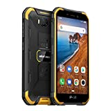 Rugged Smartphone Unlocked, Ulefone Armor X6 (2020) IP68 Waterproof Cell Phone, 5.0 inch, Android 9.0 2GB+16GB, 5000mAh Battery, Global 3G Dual SIM, LED Light, Face ID Compass+GPS Shockproof (Orange)