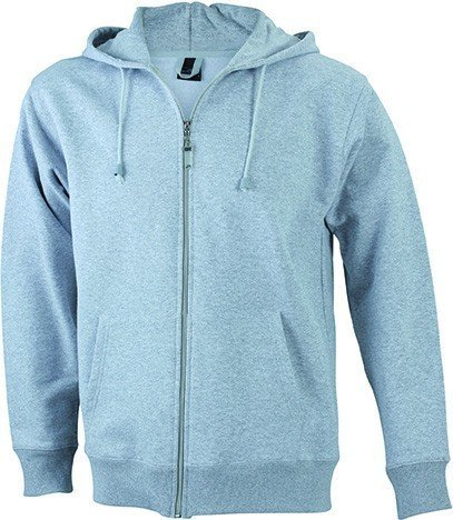 JN042-1 Men´s Hooded Jacke Sweatjacke Kapuze Sweatshirt, Farbe:grey heather;Herrengrößen:3XL XXXL,Grey Heather by ./.
