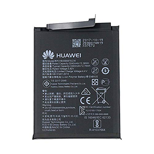 Huawei HB356687ECW - Batería original para Huawei Mate 10 Lite/Honor 7X / Nova 2 Plus (3340 mAh)