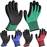DIO Colourful Garden Work Gloves 3 Pairs, Superior Grip Coating Durable...
