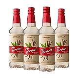 Torani Puremade Vanilla Syrup, 25.4 Fl Oz, Pack of 4