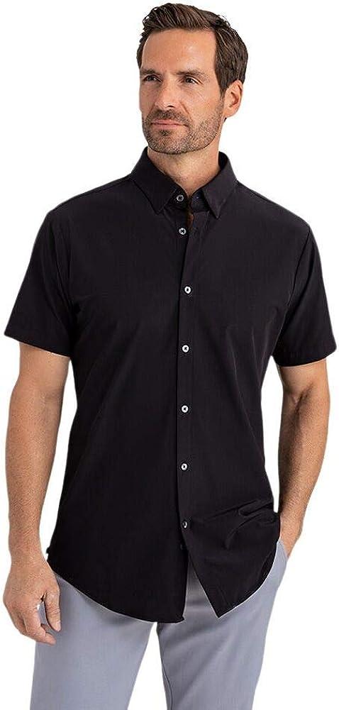 Mizzen + Main Men's Leeward No Tuck Button Down Short Sleeve Shirt, Trim Fit
