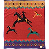 Pendleton Celebrate The Horse Wool Blanket, Red, One Size