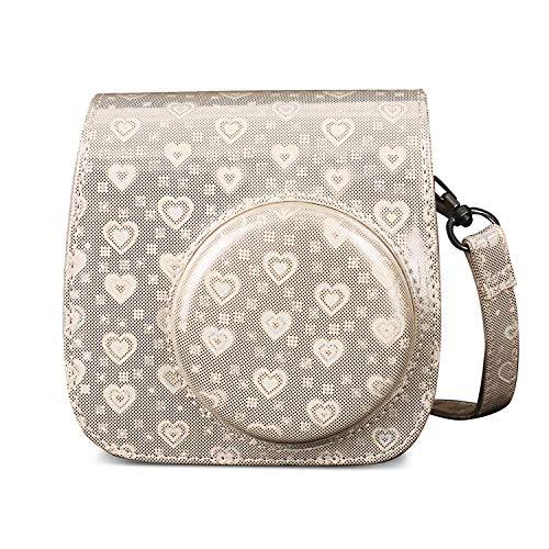 Leebotree Tasche für Fujifilm Instax Mini 9, Schutztasche aus Weichem Kunstleder mit Schulterriemen & Tasche für Fujifilm Instax Mini 8 8+ / Mini 9 Sofortbildkamera (Beige)