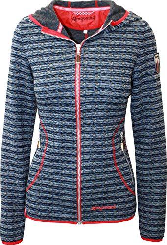 Almgwand Damen Schatzberg-1 Jacke, blau-rot, EU 42