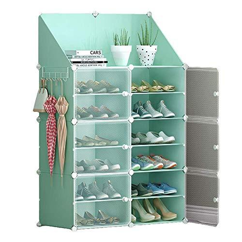 Estantes para Zapatos Estante para Zapatos para el hogar Estante de Montaje rápido Extensible y apilable Que Ahorra Espacio a Prueba de Polvo 85 * 31 * 127 cm