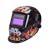 TOPmountain Casco para Soldar Oscurecimiento Automático Máscara para Soldar, Mascarillas para Soldar De Afilado Protección Protectora contra Rayos Ultravioleta - 1640A