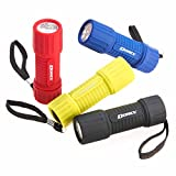 Dorcy Weather Resistant LED Flashlight with Lanyard, 4-Pack, Assorted Colors (41-4241)
