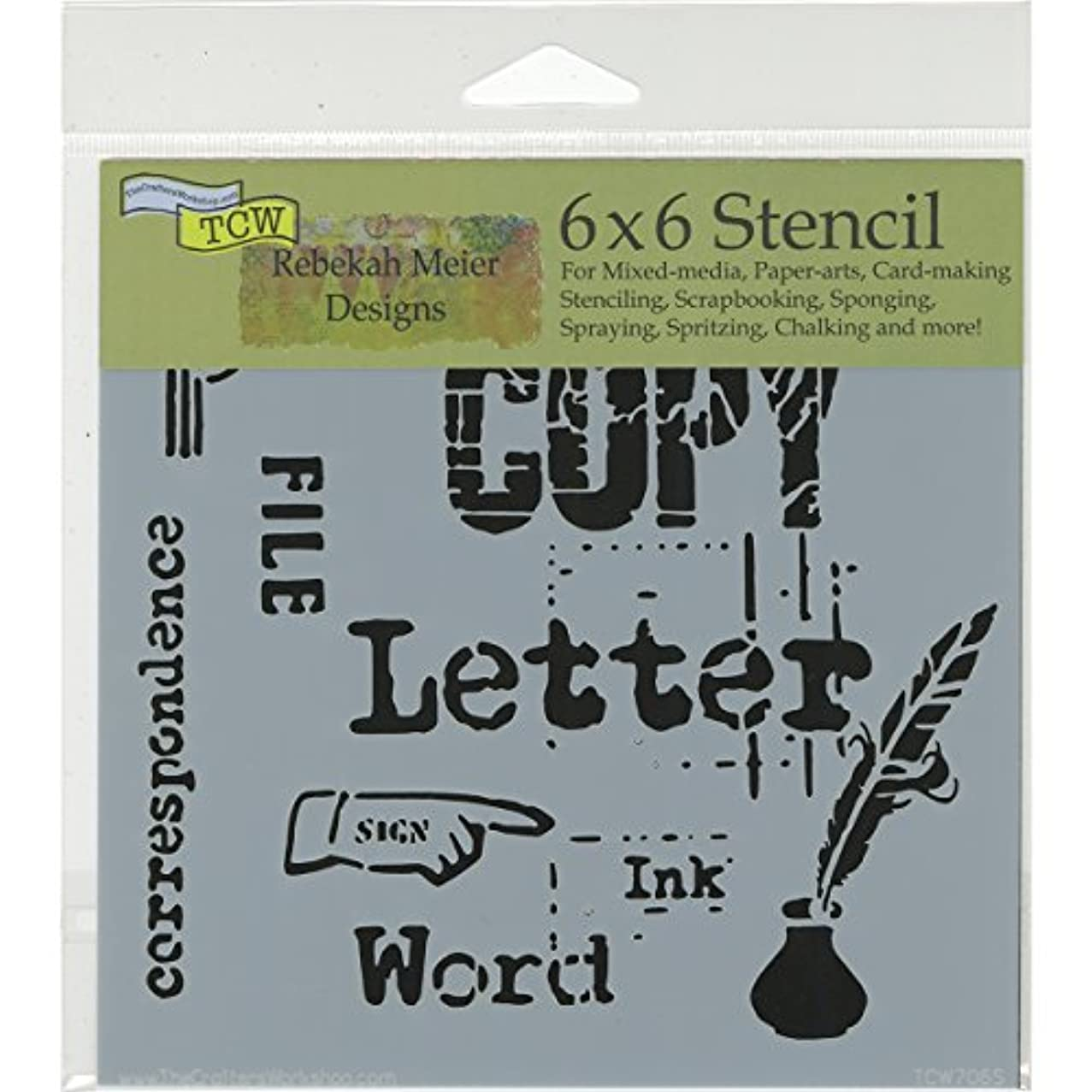 CRAFTERS WORKSHOP The 6x6 Stencil Correspondence, Synthetic Material 17.8 x 16 x 0.1 cm