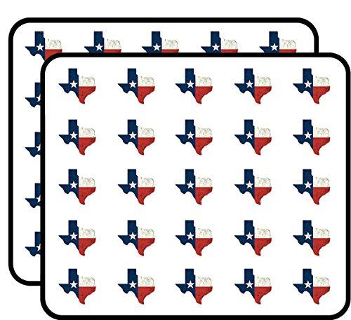 Distressed Texas Shaped Flag (tx Vintage Shape) Sticker for Scrapbooking, Calendars, Arts, Kids DIY Crafts, Album, Bullet Journals
