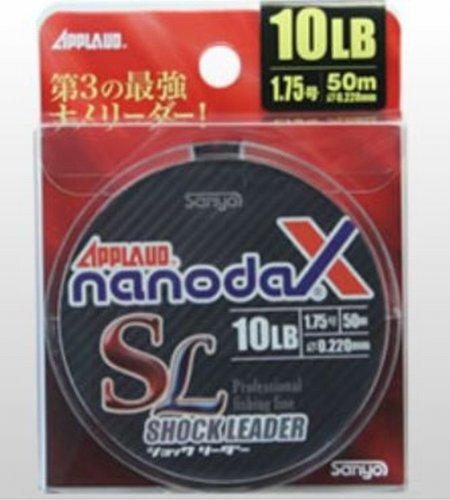 サンヨーナイロン ショックリーダー アプロード ナノダックスリーダー ナノダックス 50m 4号 20lb アクアクリアー