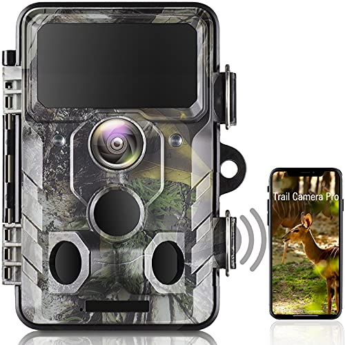 Upgraded WiFi Wildlife Camera 20MP 1296P Bluetooth Hunting Trail Camera with Night Vision Motion Activated Waterproof IP66 for Outdoor Wildlife Scouting Animal Game Camera, Home Security Surveillance