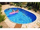 Mountfield - AZURO Vario Wood WL5, piscina ovale con parete in acciaio, 910 x 460 x 120 cm, senza pellicola interna