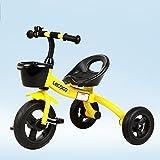 MAZHONG Bicicletas Bicicleta de Montaña, Carro de bebé, Triciclo, Bicicleta para Niños, Bicicleta de bebé, Coche de Juguete para Niños y Niñas para Niños en Muchos Tamaños (Color : Amarillo)