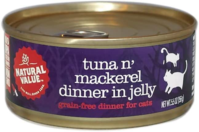 Natural Value 5.5 oz. specialty shop Tuna Cat w Mackerel 12-Pack Beauty products Food