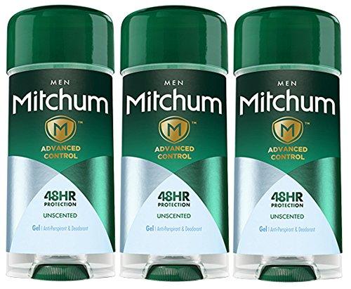 Mitchum Advanced Control Unscented Antiperspirant Deodorant 2.25 Oz (3 Pack)