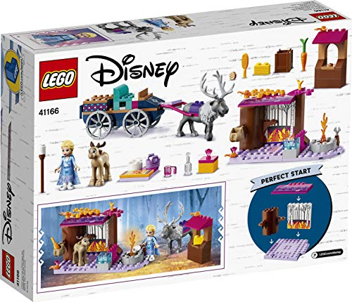 LEGO 41166 Disney Frozen II Elsa's Wagon Adventure\nwith Princess Elsa Mini Doll and 2 Reindeer Figures, Easy Build Preschool Toy for 4-7 Years Old with Bricks Base Plate