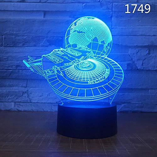 Erdebene Globus Reise Land Sonnensystem Pflanzen Kreative 3D Led Tischlampe Acryl Nachtlicht Kinder Geschenk Dekoration