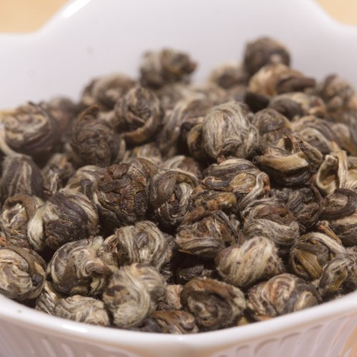 The Fragrant Leaf, Organic Jasmine Pearls Green Tea - 8 oz. Foil Bag