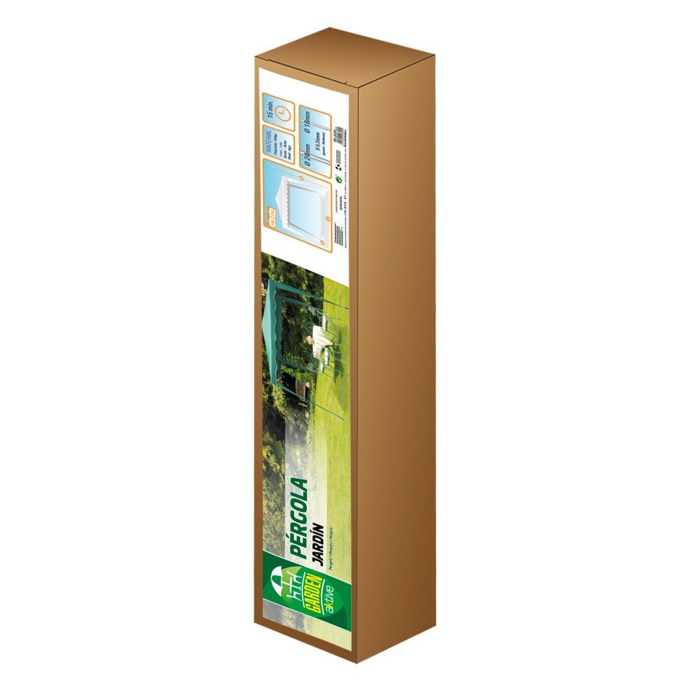 Aktive - Cenador de 300 x 300 x 250 cm, poliéster, color verde ...