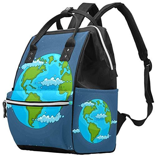 Painted Earth in the Universe Sac à dos de voyage multifonction avec imprimé de la Terre dans l'univers, grande capacité, sac d'allaitement, sac de maternité