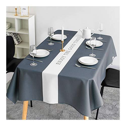 Nappe De Table, Résistant À L'eau Résistant À L'huile Essuyable Rectangle Nappe Fait Main Personnalisable Coton Lin Accueil Décoration (Couleur : A, Taille : 140×140cm(55.12\