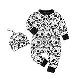 Keliela-Baby Shop Ropa Bebé Panda Pelele + Sombrero Niños Niñas Cute Body Bebes Ropas Invierno Bebe Recien Nacido Divertido Bodies Conjunto Disfraz Manga Larga Pijama Algodón