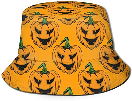 Halloween Thanksgiving Pumpkin(15) Mens Womens Trends Fashion Bucket Hat Hello Halloween Hello Kitty