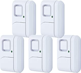 GE Personal Security Window/Door, 5-Pack, DIY Protection, Burglar Alert, Magnetic Sensor, Off/Chime/Alarm, Easy Installati...