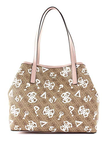 Guess Vikky Tote Brown Multi