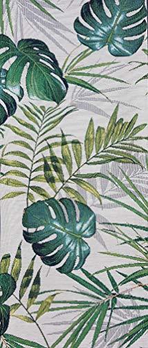 Sprügel - Gobelin Tischläufer - Vertes - Palmenblätter Monstera - 50 x 150cm